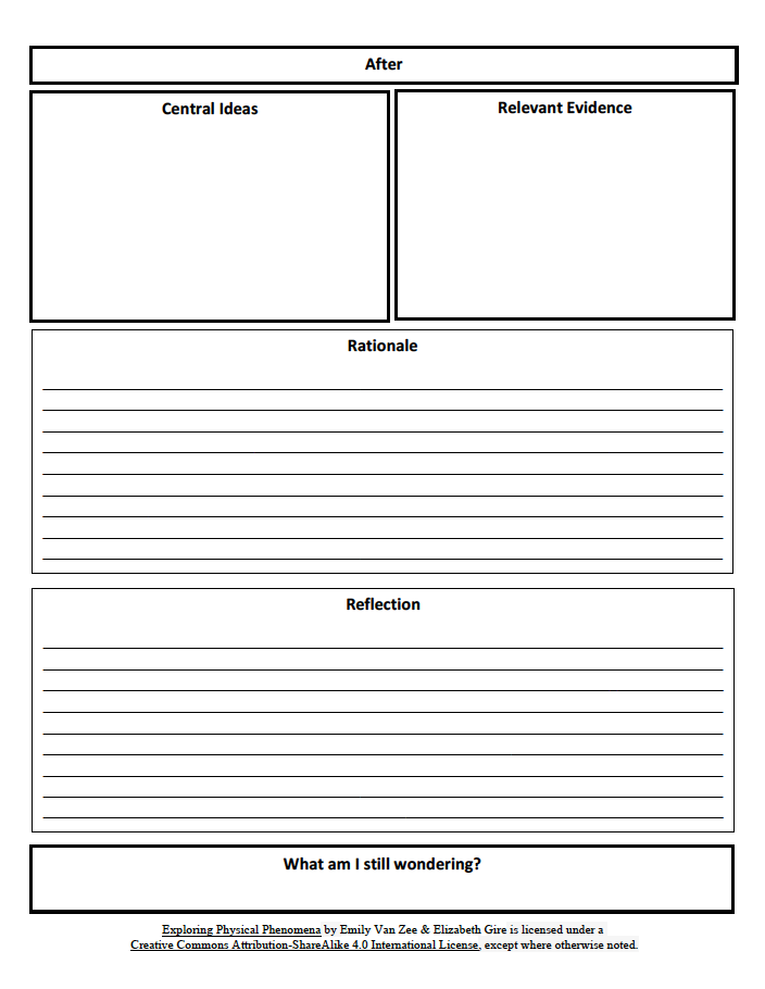 Physics notebook page template