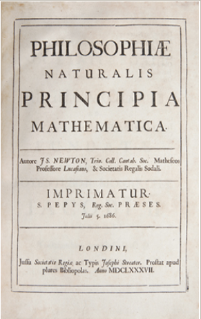 Front piece of Newton's Principia.