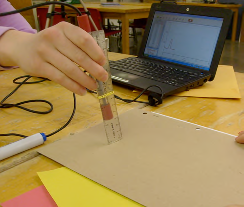 Using a light probe connected to a computer to compare the reflectivity of various materials.