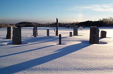 Keppel Henge, a standing stone circle in Ontario, Canada.