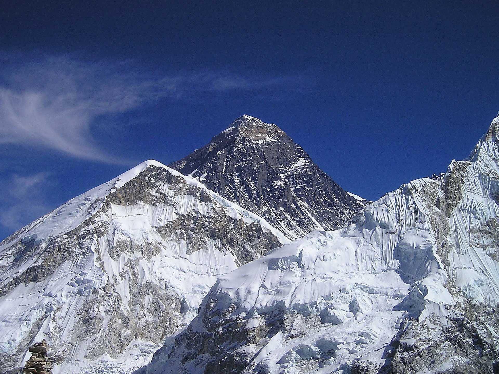 Example of sublimation on Mt. Everest.