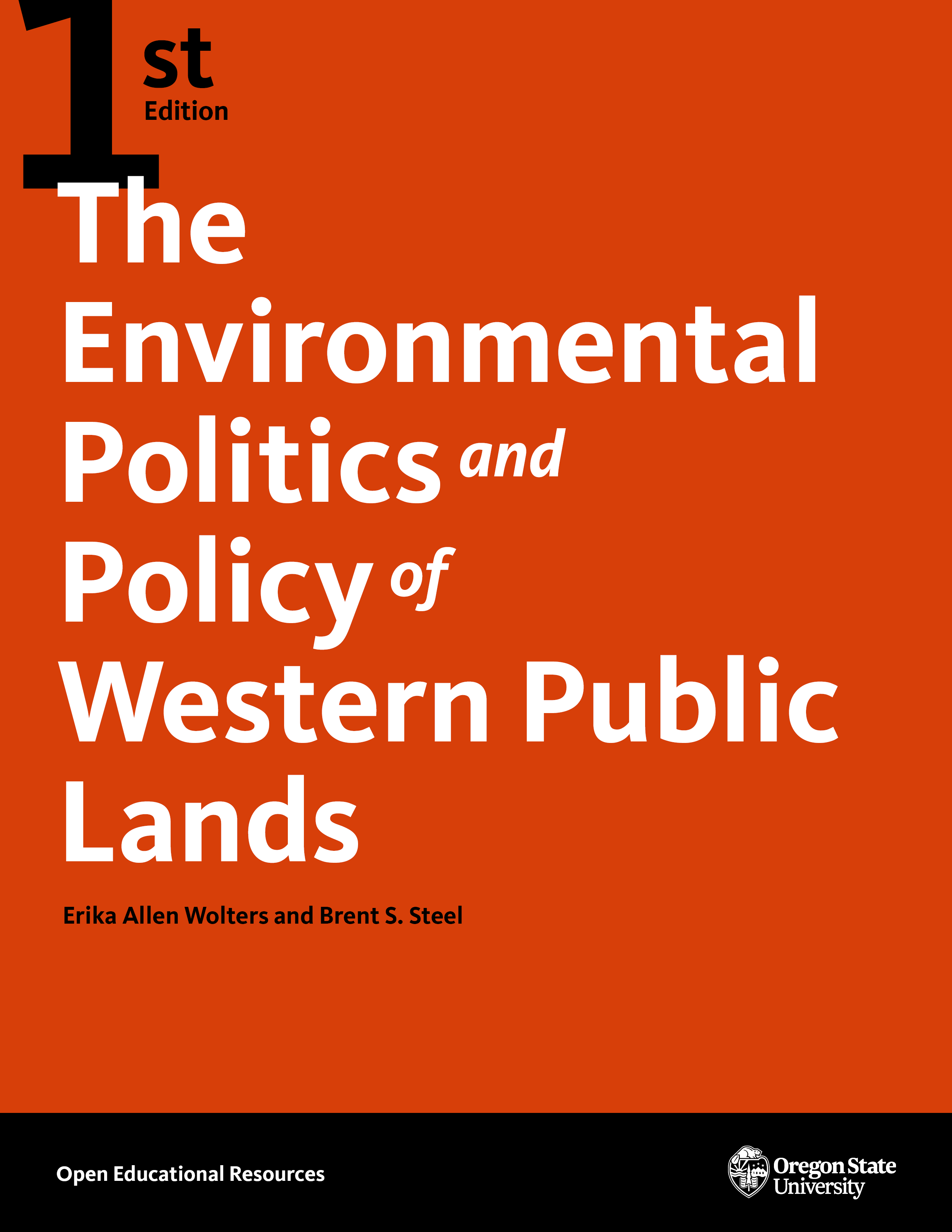 Cover image for The Environmental Politics and Policy of Western Public Lands