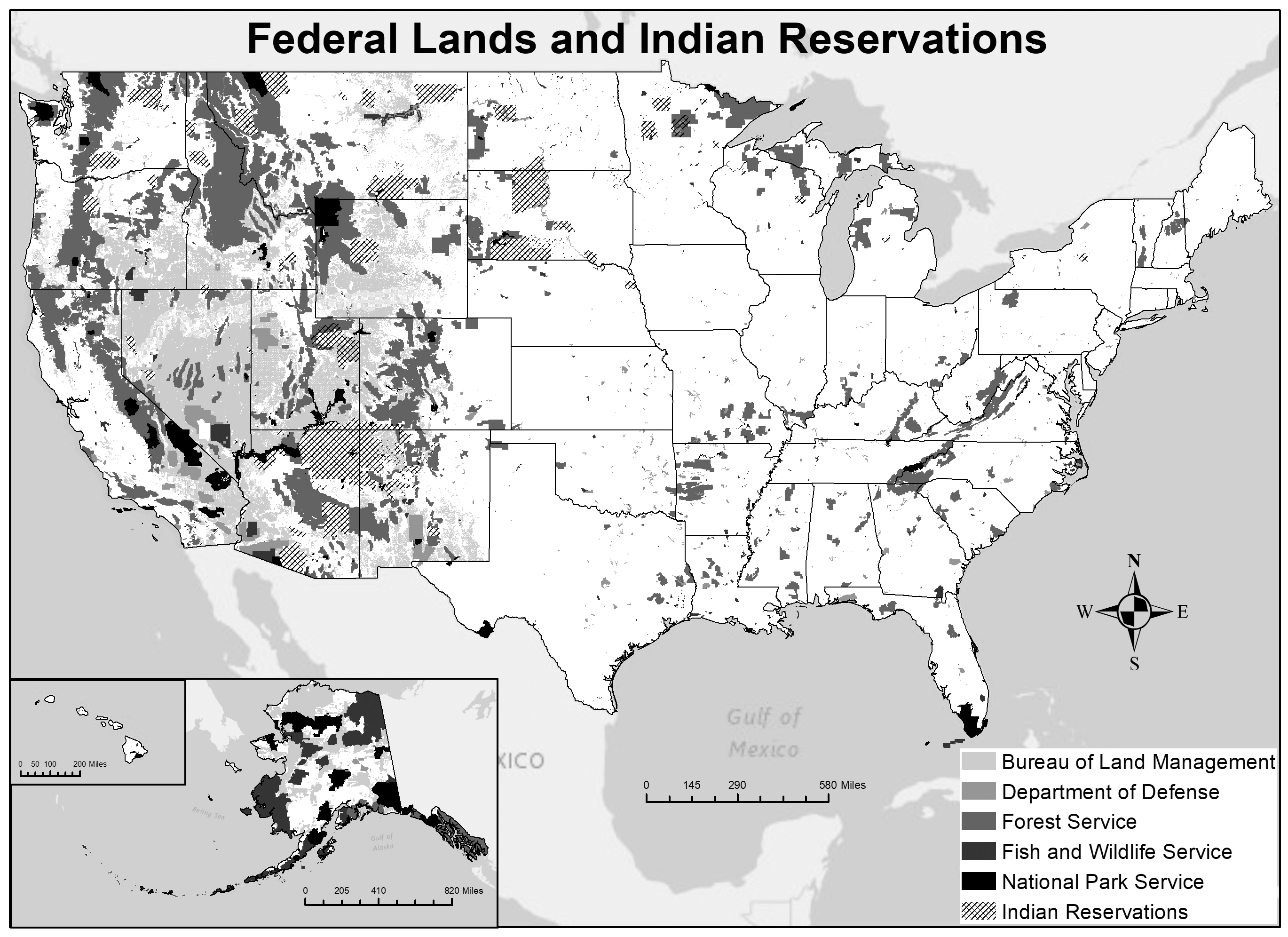 Federal lands and Indian reservations.