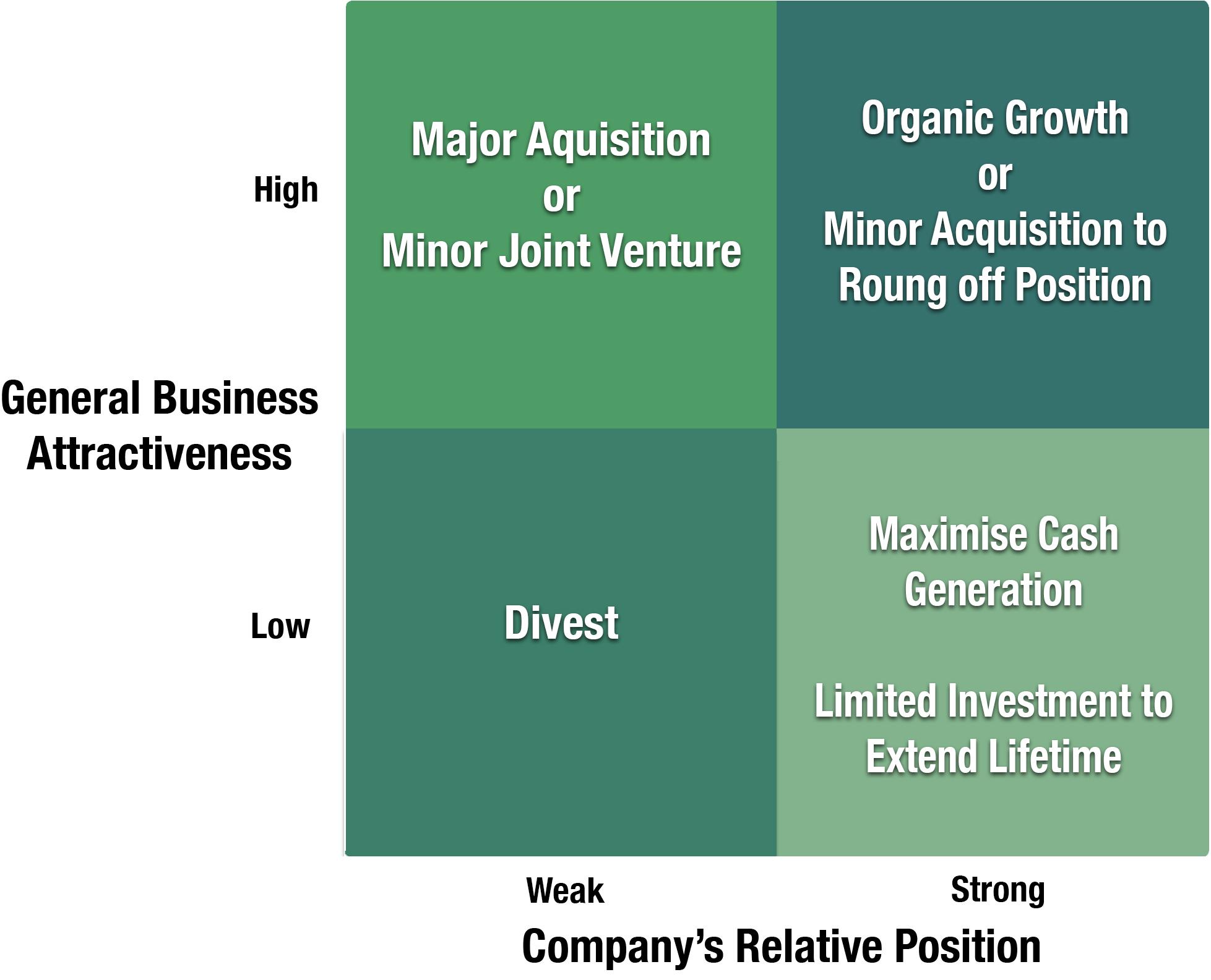 Key Strategic Options in Portfolio Planning