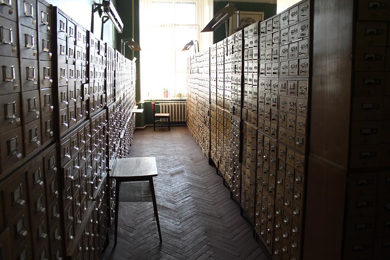 Card catalogue at Vavilov Institute of Plant Industry.