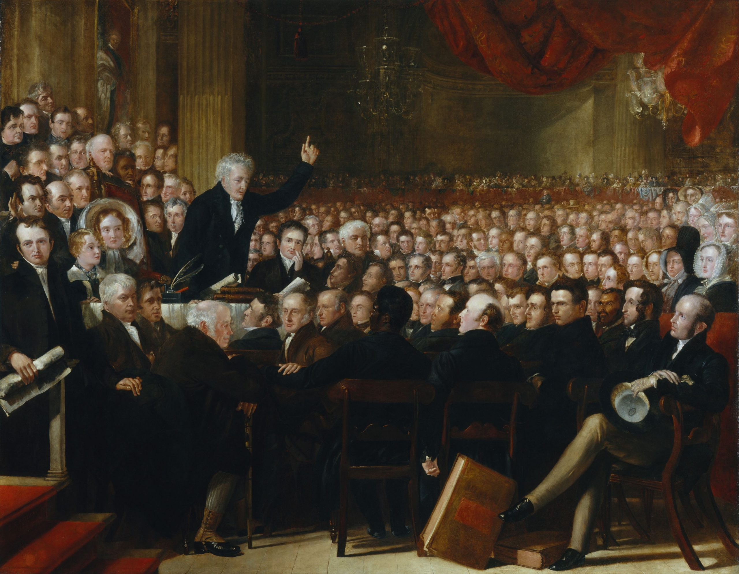 Thomas Clarkson addressing delegates of the Anti-Slavery Society Convention in 1840.