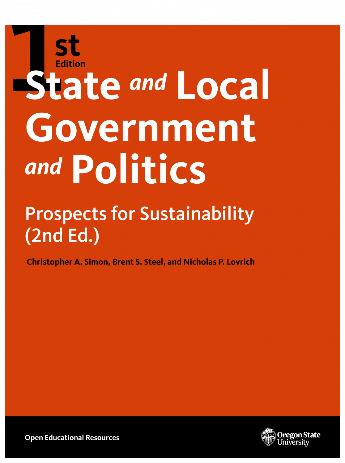 Cover image for State and Local Government and Politics: Prospects for Sustainability