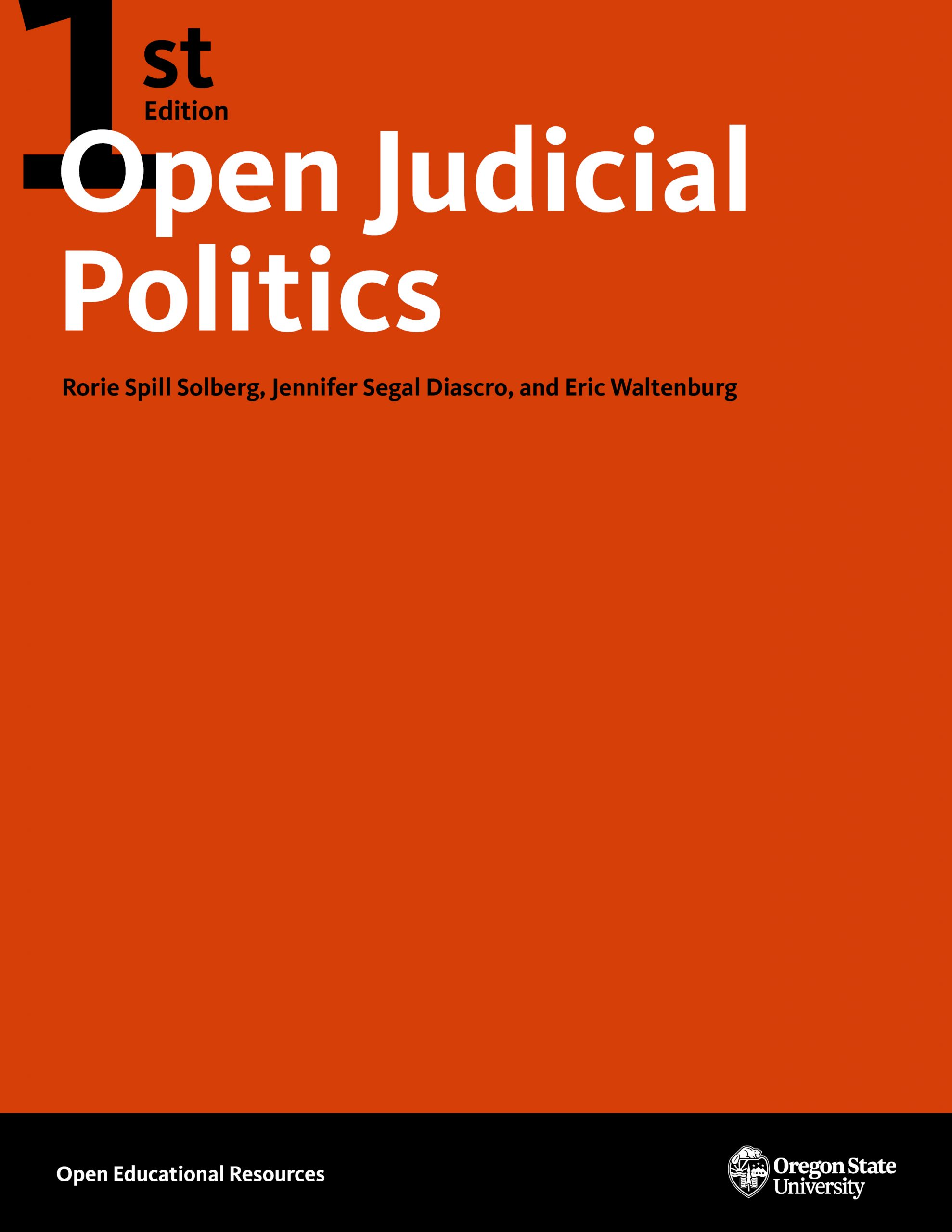 Cover image for Open Judicial Politics