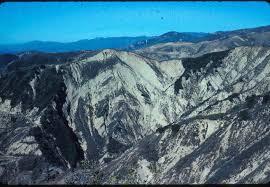 Ventura Avenue Anticline in oil field north of Ventura, California