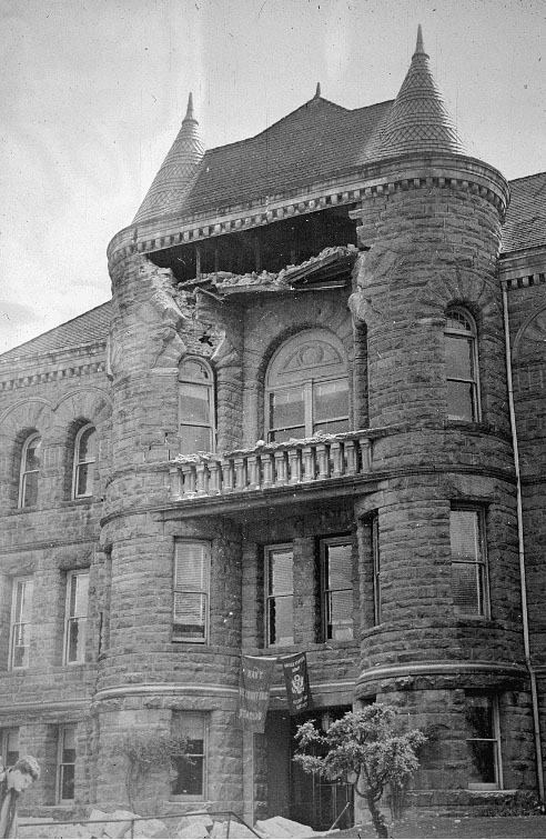 Damage to Old State Building, Olympia, Washington, in 1949 earthquake
