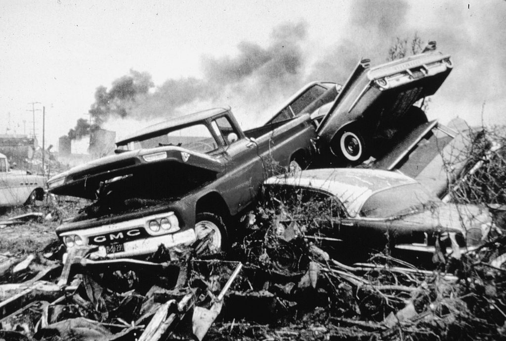 Damage from the 1964 tsunami in Crescent City, California