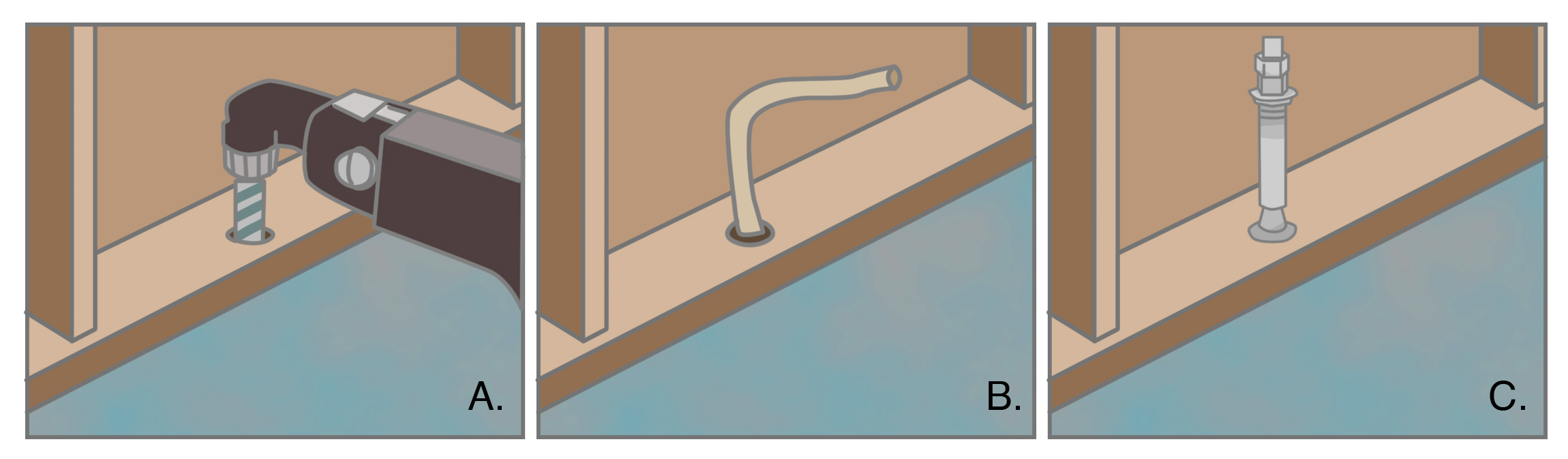 Bolt cripple wall (pony wall) to foundation through mudsill, using a sill bolt