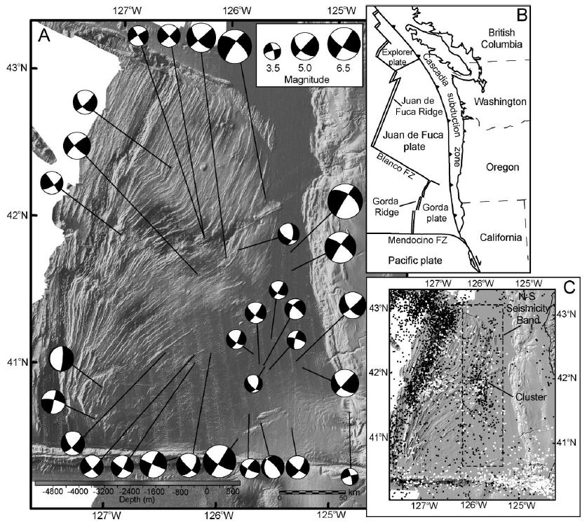 A sonar image of Gorda Plate
