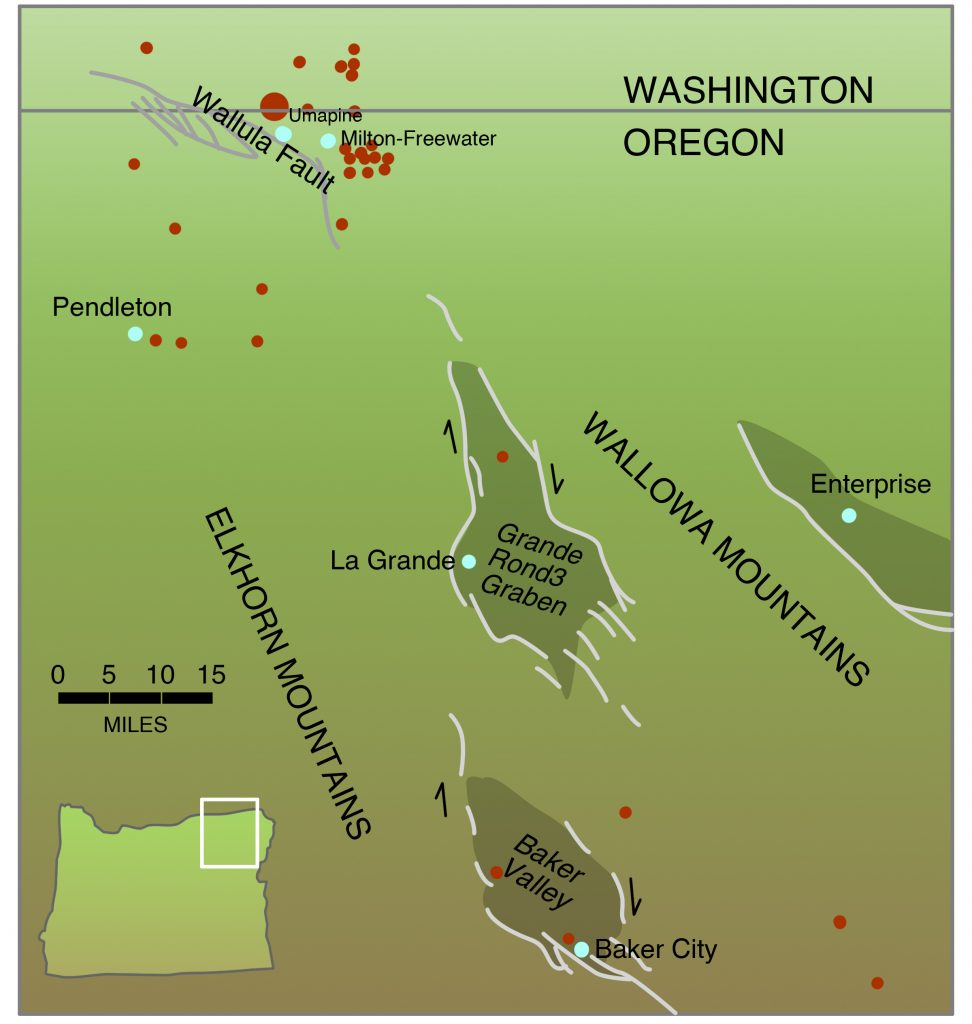 Faults in northeastern Oregon in the vicinity of the 1936 Milton-Freewater Earthquake
