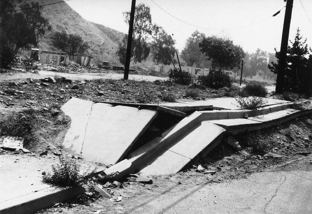 Reverse fault in the San Fernando Valley, California, formed during the Sylmar Earthquake of February 9, 1971.