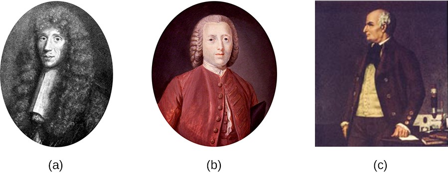 "(a) Francesco Redi, who demonstrated that maggots were the offspring of flies, not products of spontaneous generation. (b) John Needham, who argued that microbes arose spontaneously in broth from a ""life force."" (c) Lazzaro Spallanzani, whose experiments with broth aimed to disprove those of Needham."