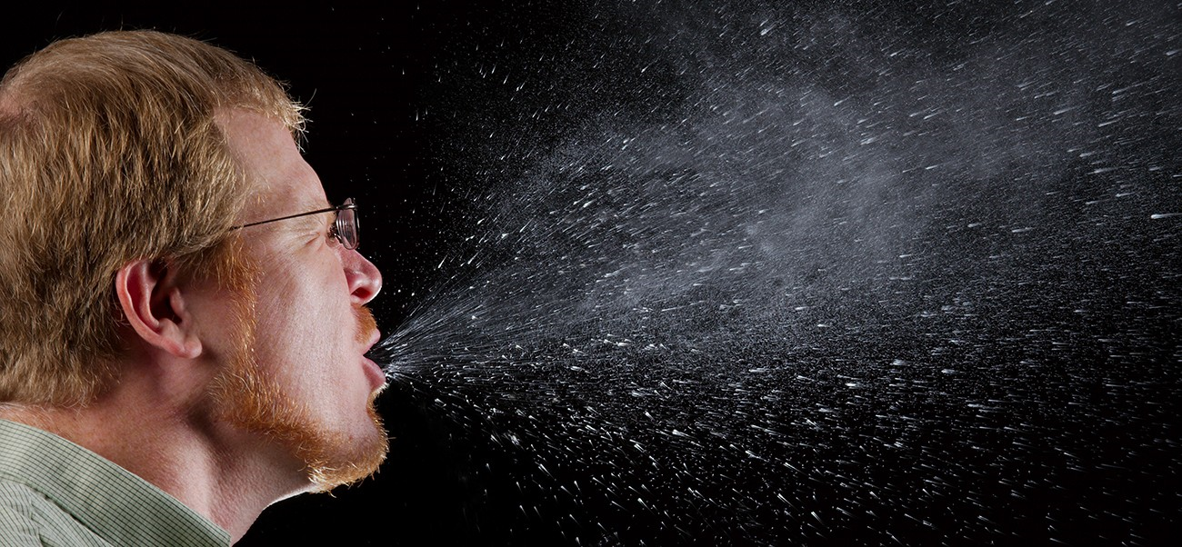 Aerosols produced by sneezing, coughing, or even just speaking are an important mechanism for respiratory pathogen transmission. Simple actions, like covering your mouth when coughing or sneezing, can reduce the spread of these microbes.
